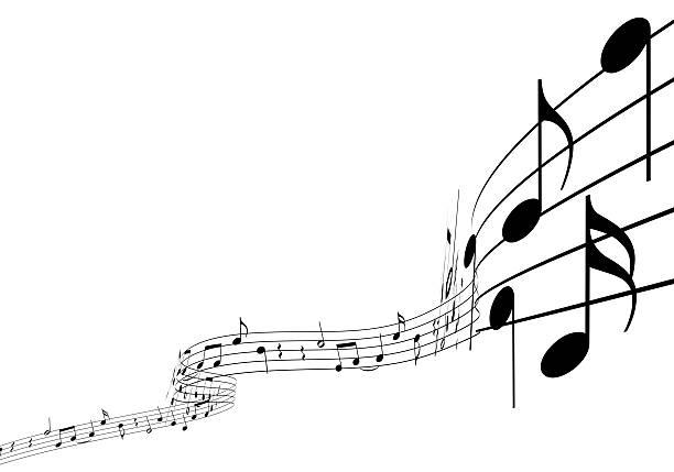 3 d papier à musique - note de musique photos et images de collection