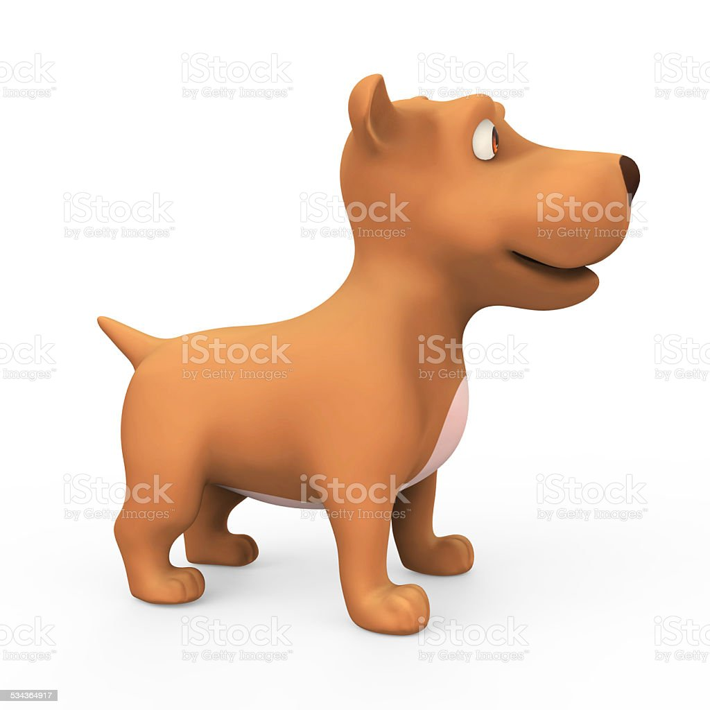 3d Side View Of A Cute Puppy Dog Stock Photo Download