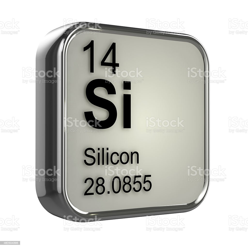 3d Silicon element stock photo