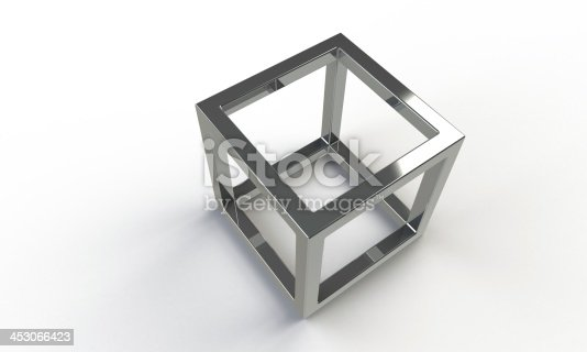 istock 3d silver cube frame structure isolated on white 453066423