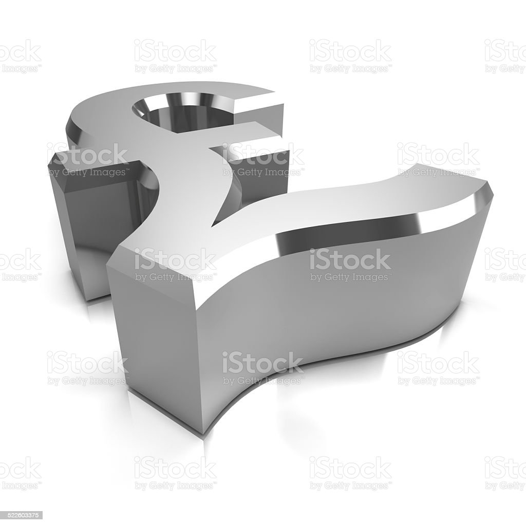 3d Silver Uk Pounds Sterling Symbol Stock Photo More Pictures Of