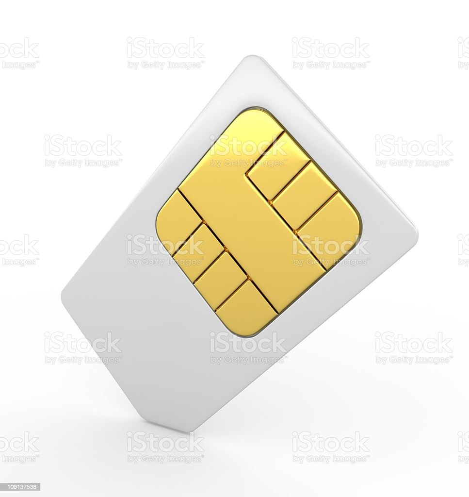 3d sim card royalty-free stock photo