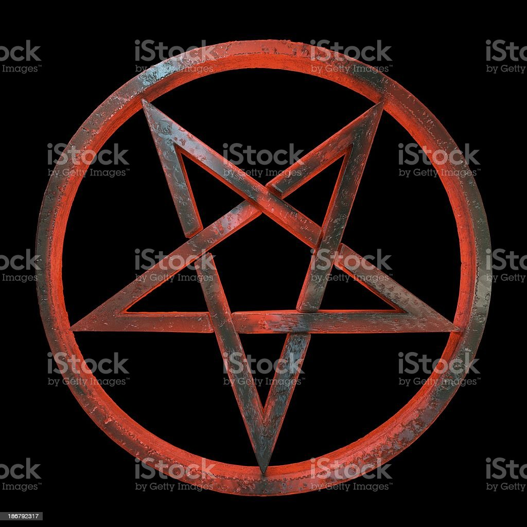 3d Sinister Inverted Pentagram Stock Photo More Pictures Of Amber