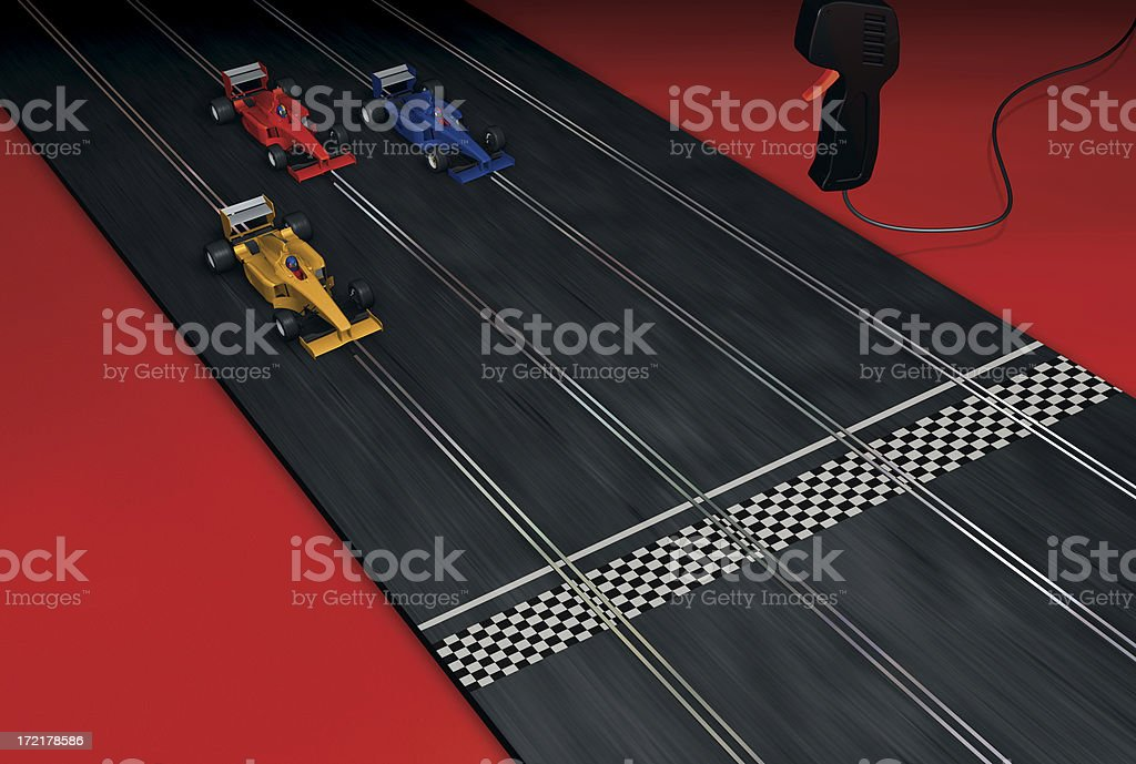 3 d slot car - foto de acervo