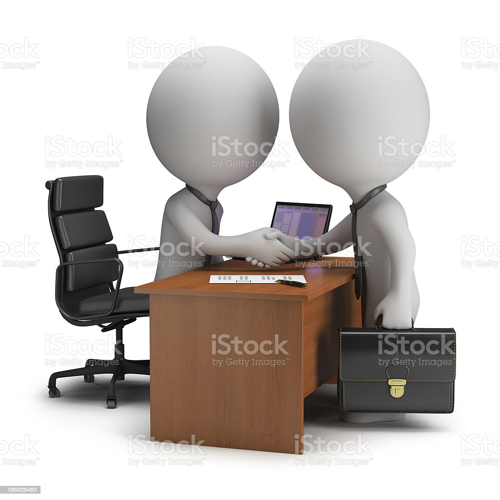 3d small people - agreement stock photo