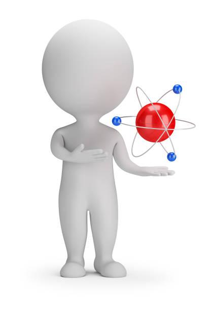 Cтоковое фото 3d small people - atom