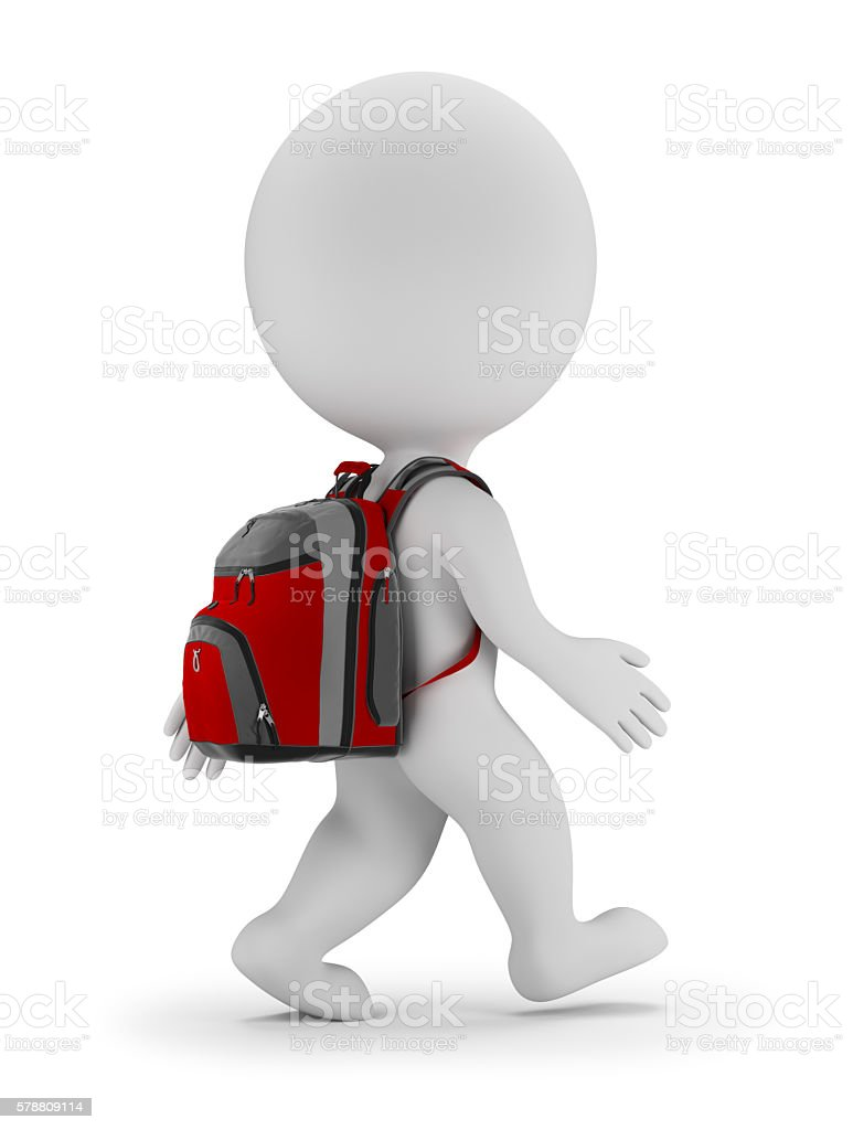 3d small people - back to school - foto stock