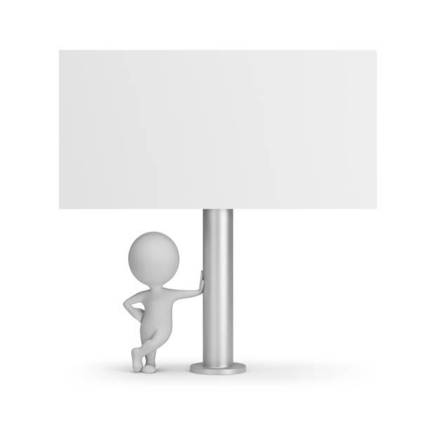 Cтоковое фото 3d small people - billboard