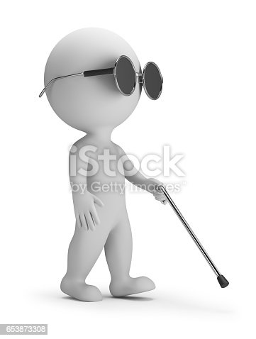 istock 3d small people - blind 653873308