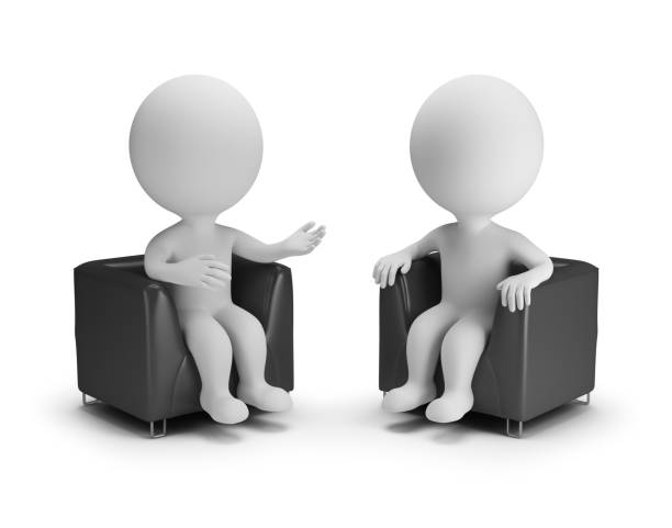 3d small people - conversation stock photo