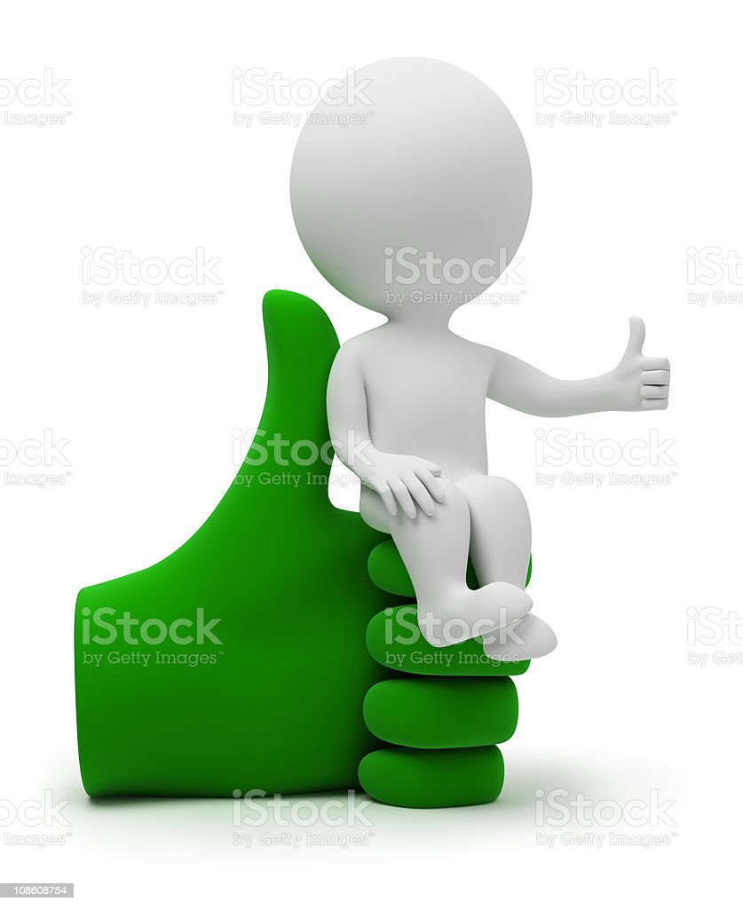 3d small people - cool armchair royalty-free stock photo
