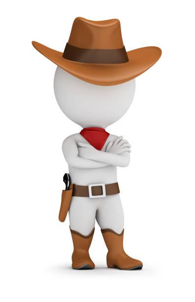 Cтоковое фото 3d small people - cowboy