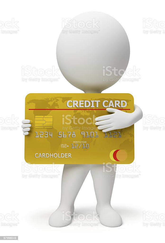 3d small people - credit card royalty free stockfoto