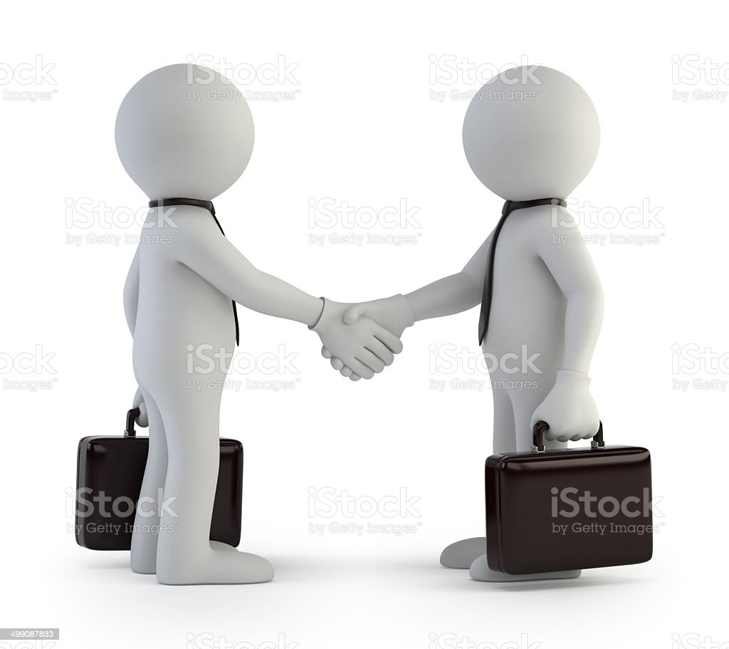 3d small people - deal stock photo