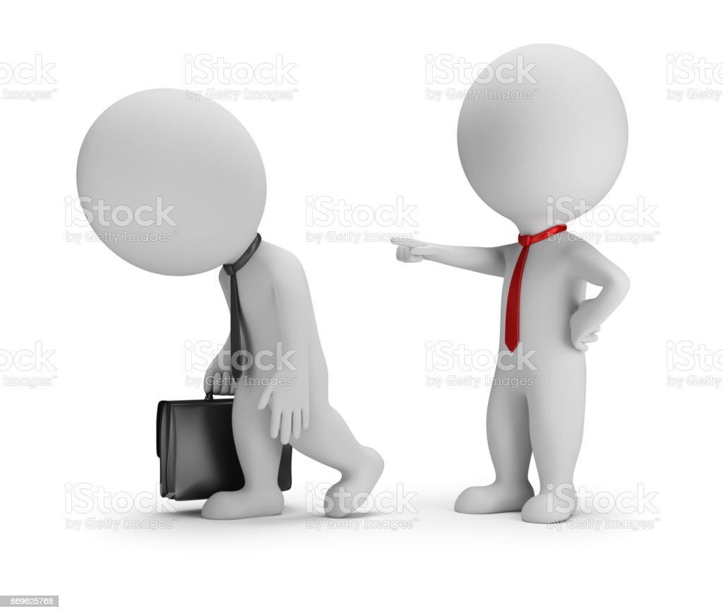 3d small people - dismissal stock photo