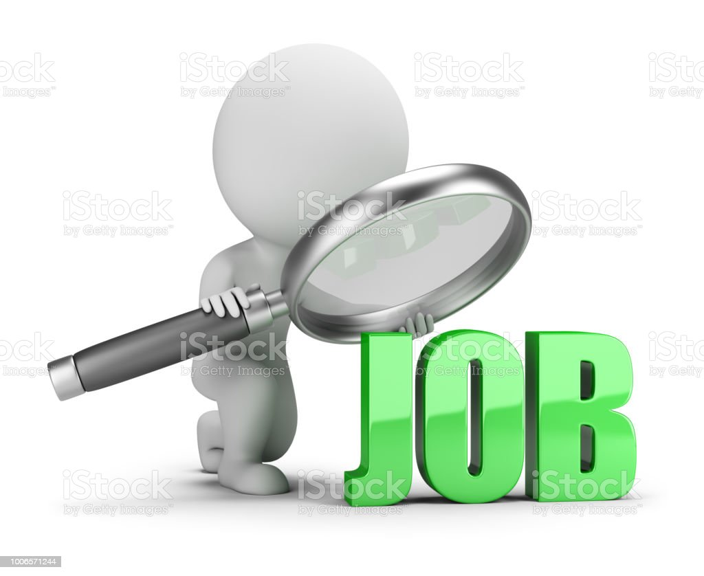 3d small people - job search стоковое фото