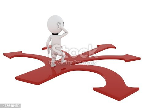 istock 3d small people making a choice on crossroads 478649452
