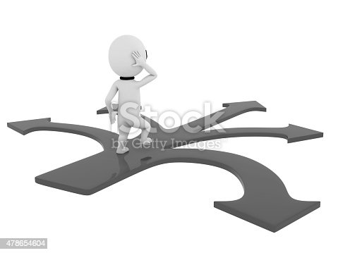 469720582 istock photo 3d small people making a choice on crossroads 478654604
