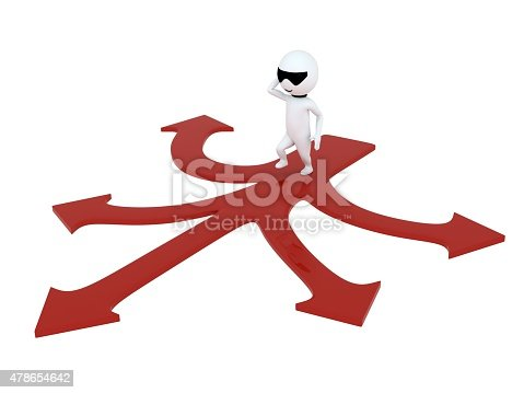 469720582 istock photo 3d small people making a choice on crossroads 478654642