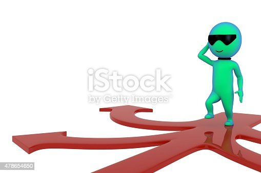 469720582 istock photo 3d small people making a choice on crossroads 478654650
