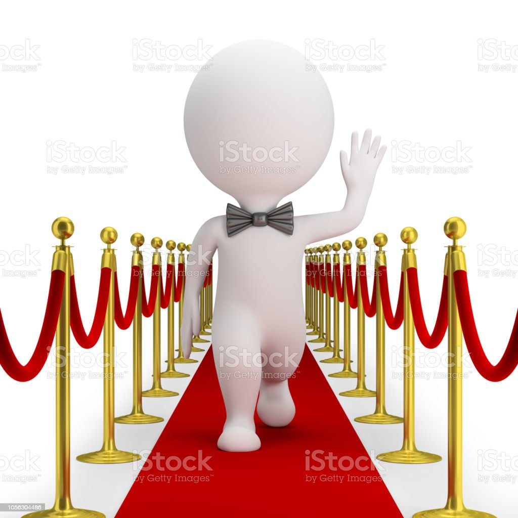 3d small people - red carpet стоковое фото