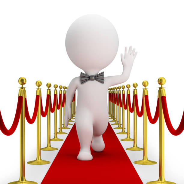 Cтоковое фото 3d small people - red carpet