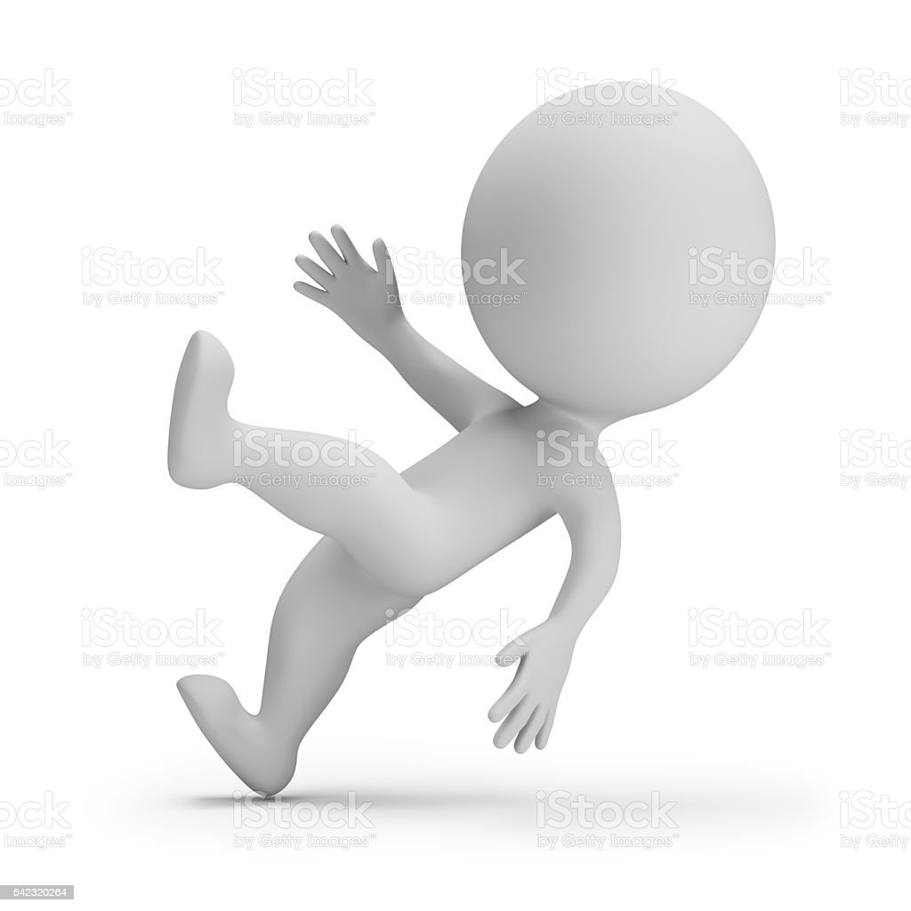 3d small people - slipped stock photo