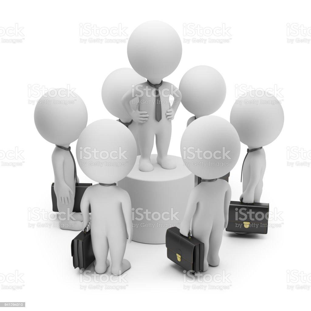 3d small people - speech стоковое фото
