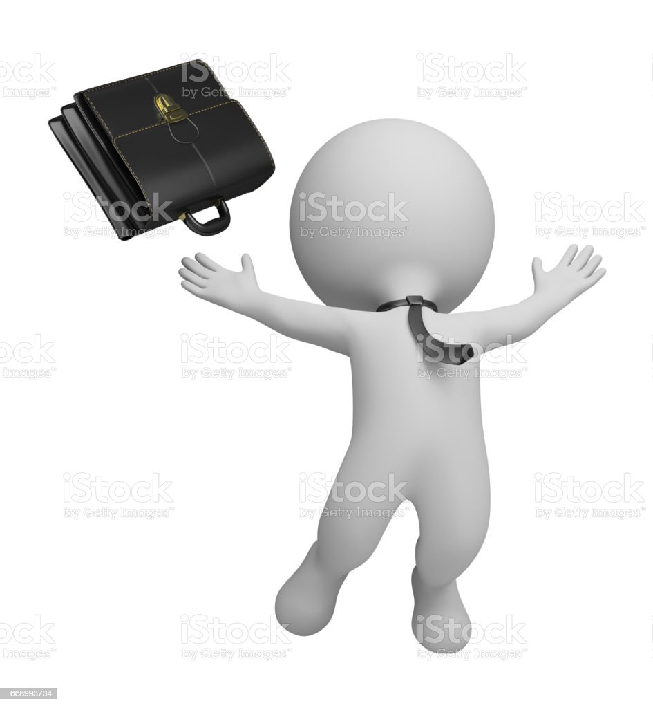 3d small people - successful businessman stock photo