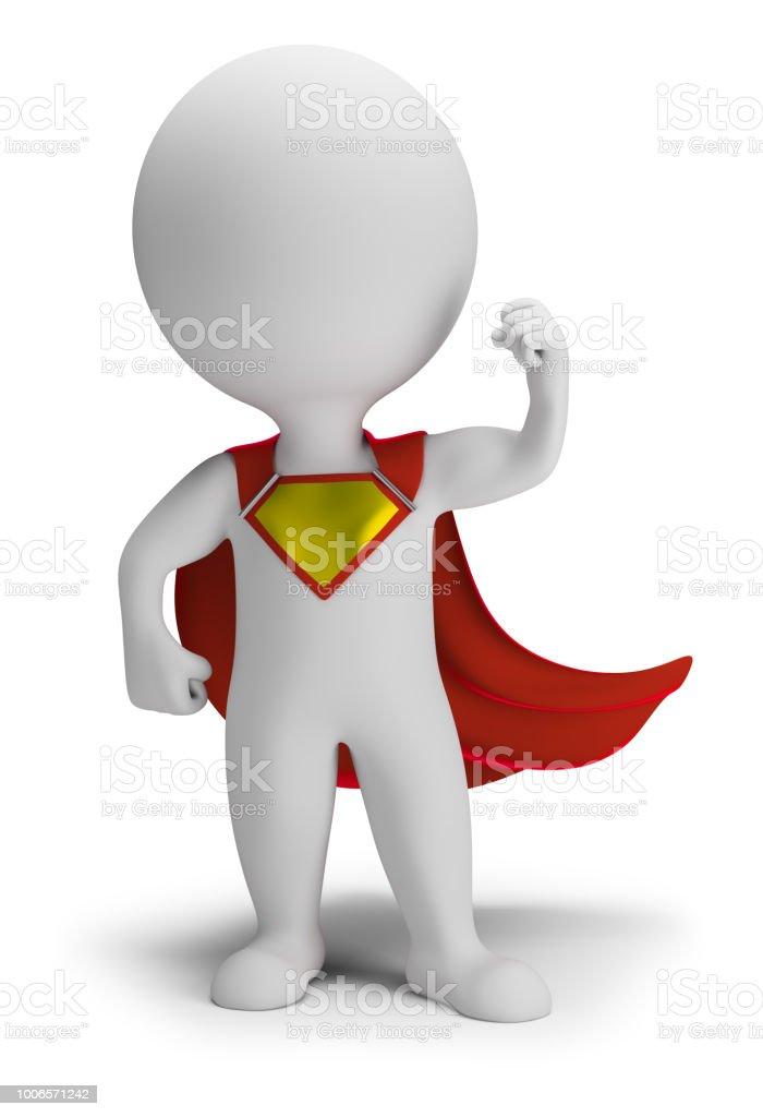 3d small people - superhero стоковое фото