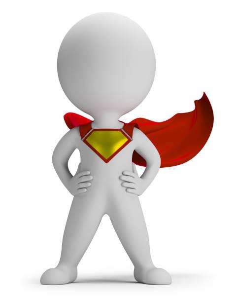 3d small people - superhero stock photo