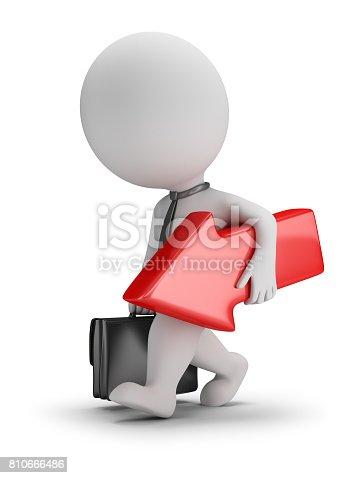 istock 3d small people - unsuccessful businessman 810666486