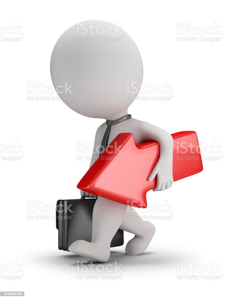 3d small people - unsuccessful businessman stock photo