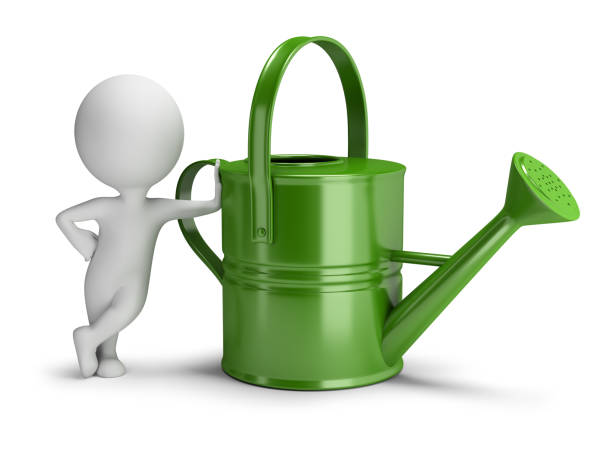 Cтоковое фото 3d small people - watering can