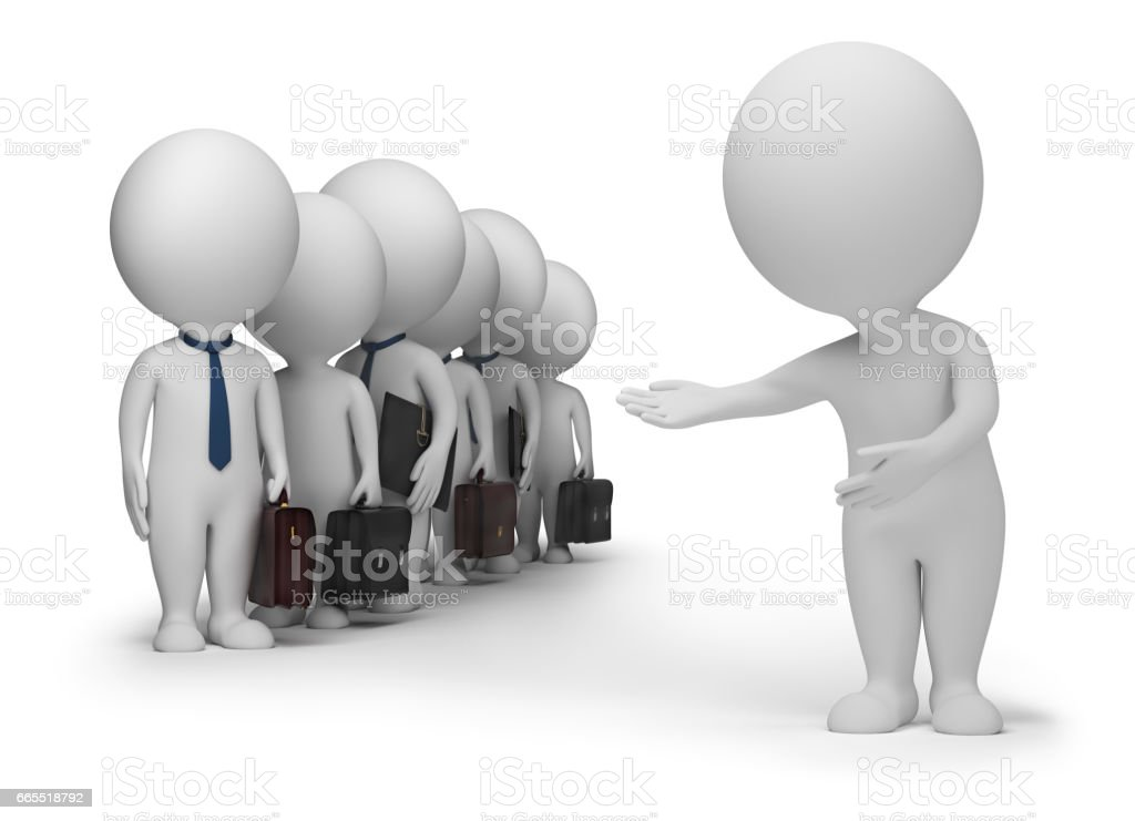 3d small people - your clients stock photo