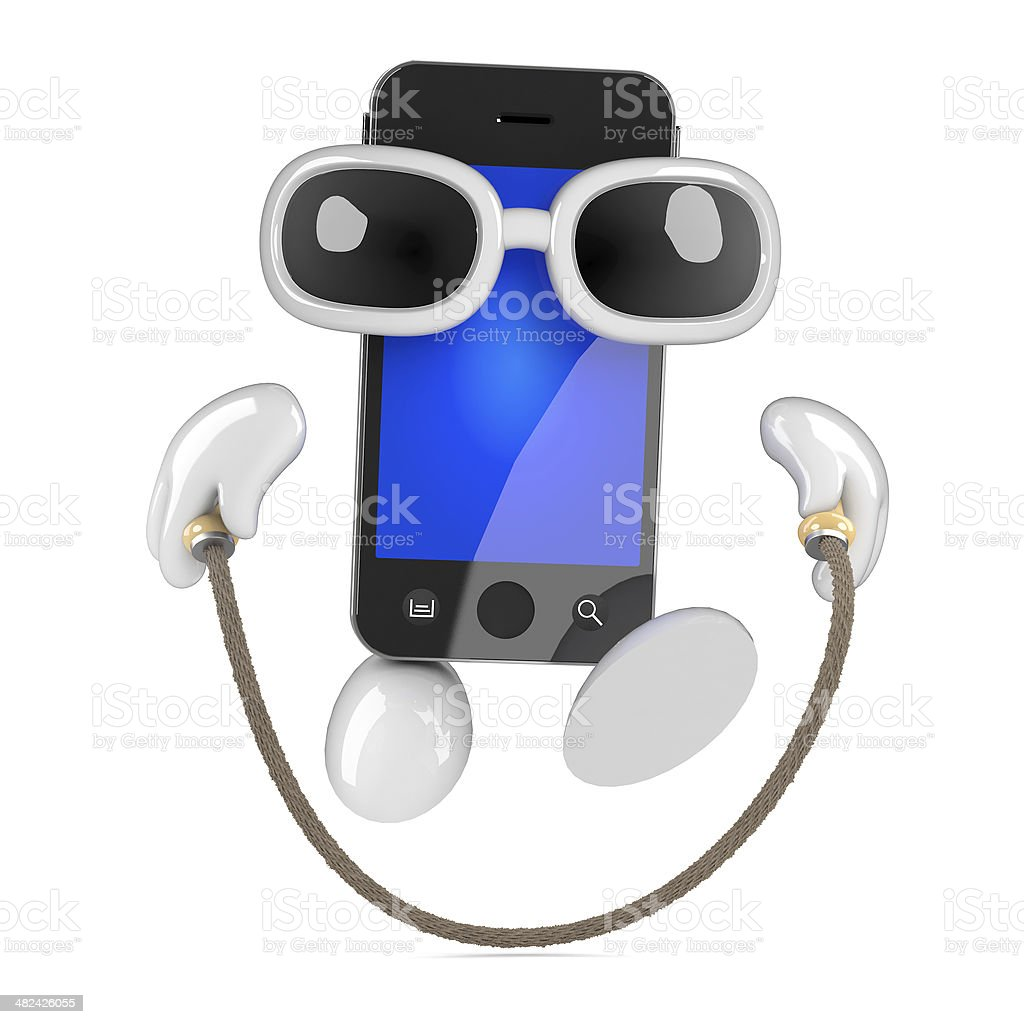 3d Smartphone skipping royalty-free stock photo