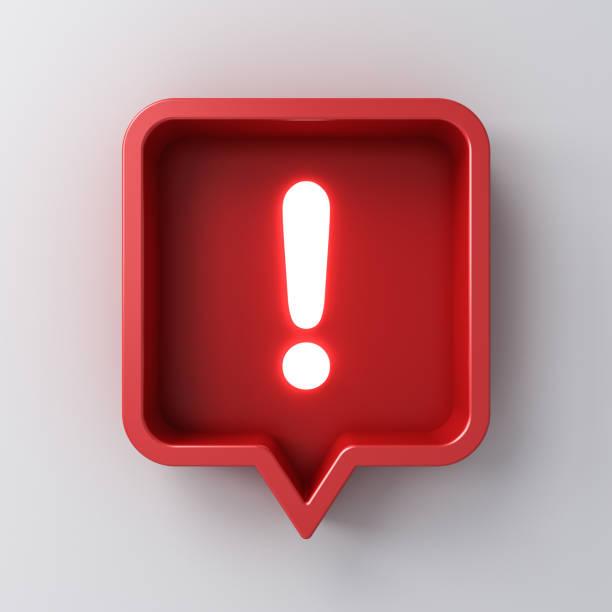 3d social media notification neon light exclamation mark icon in red picture id1149300789?b=1&k=6&m=1149300789&s=612x612&w=0&h=ogssrefqlcznowrutonevlnjymed0am 0c96 ajjrnk=
