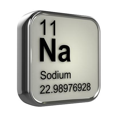 3d Sodium Element Stock Photo - Download Image Now