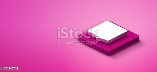 1151943994 istock photo 3d speech bubble icon 1151943719