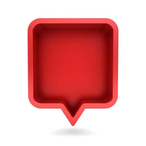 3d speech bubble or blank red rounded square chat pin with shadow on picture id1125351850?b=1&k=6&m=1125351850&s=612x612&w=0&h=xpt r3g4wr8o375mjiphkxju6p3rf5e ggjqmlbclfa=