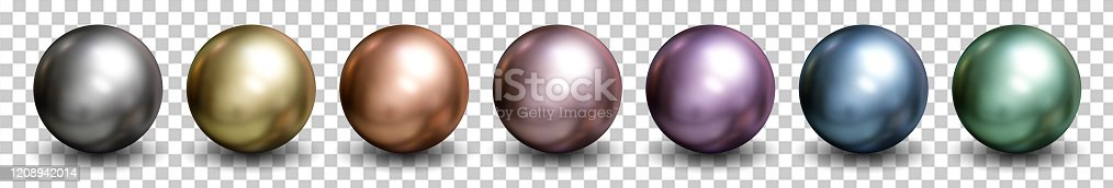 175960311 istock photo 3d spheres isolated on white background with clipping path. Set of crystal shape or realistic glass ball in silver, bronze, gold, pink metal. 3d render for mock up. New geometric design. Round icon. 1208942014