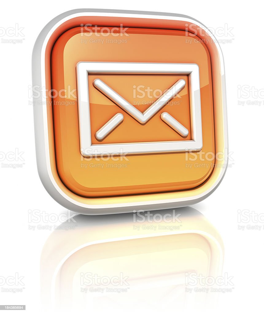 3d square icons - email royalty-free stock photo