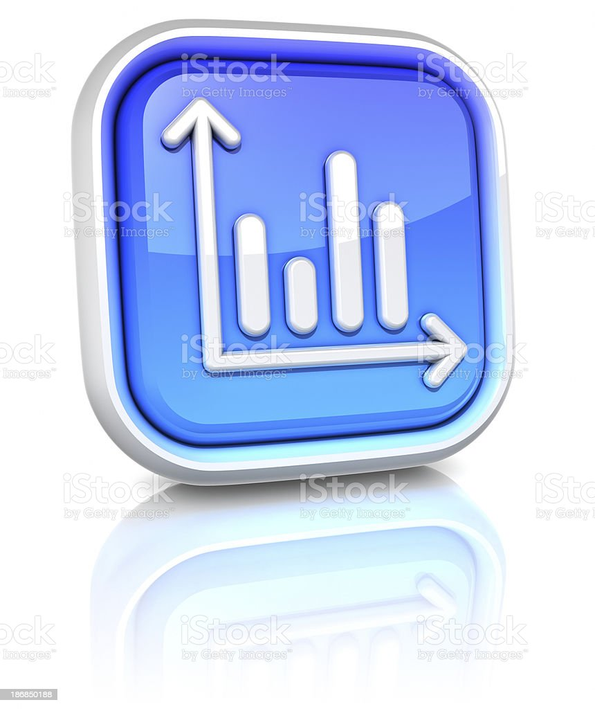 3d square icons - stats royalty-free stock photo