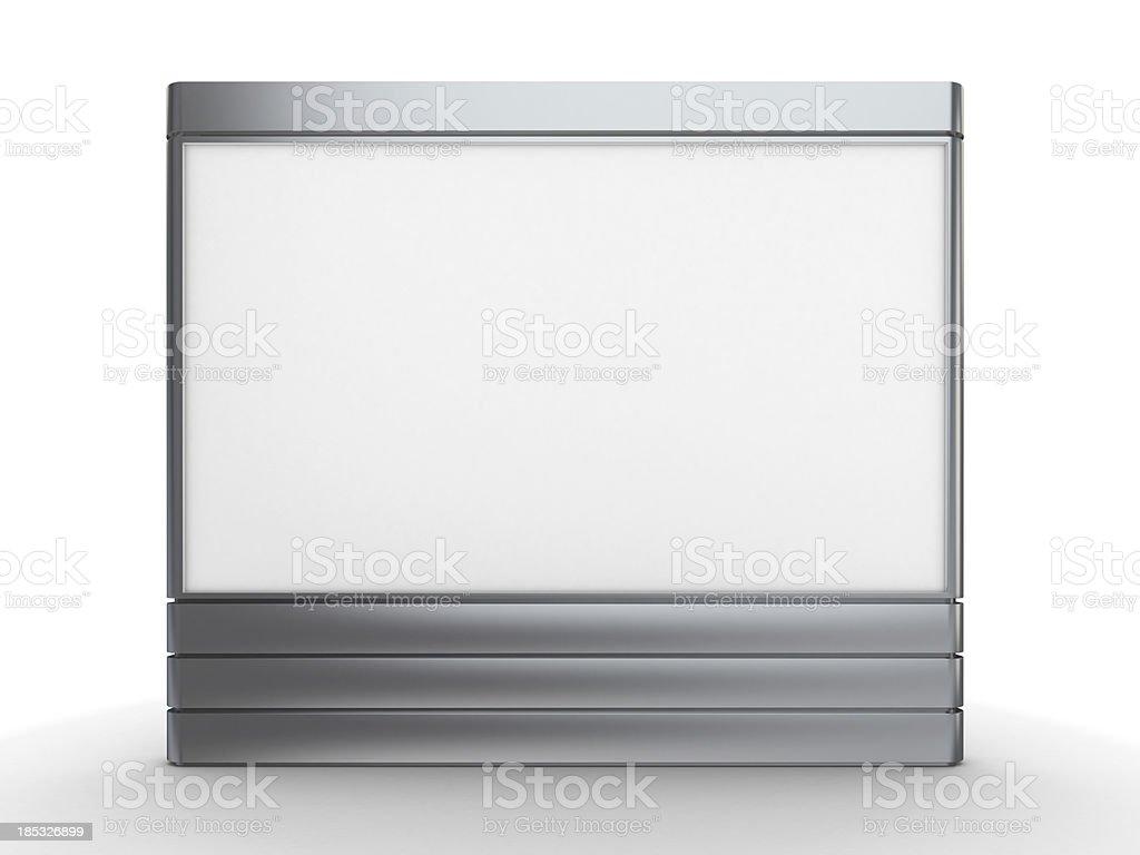 3d standing advertising digital bilboard stock photo