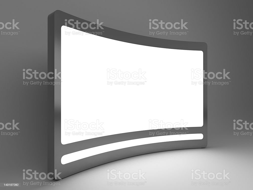 3d standing advertising digital billboard perspective view royalty-free stock photo