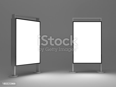 istock 3d Standing advertising digital poster 185320966