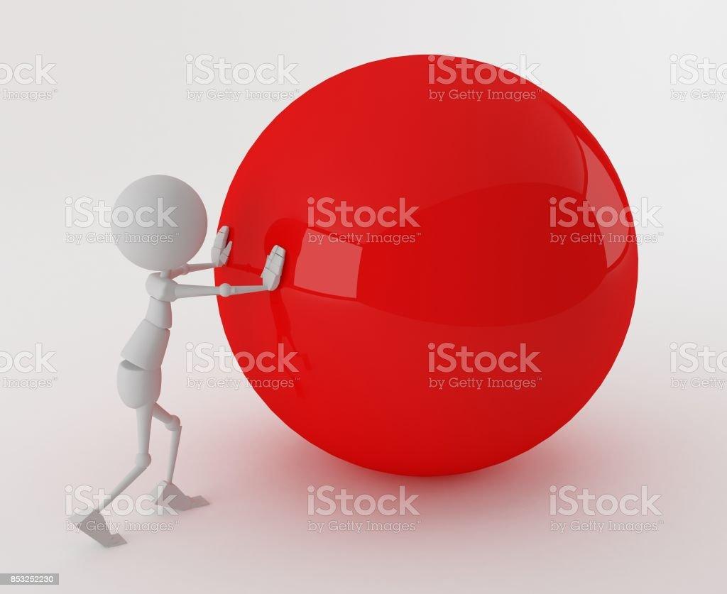boule de sphère 3D stickman roll - Photo