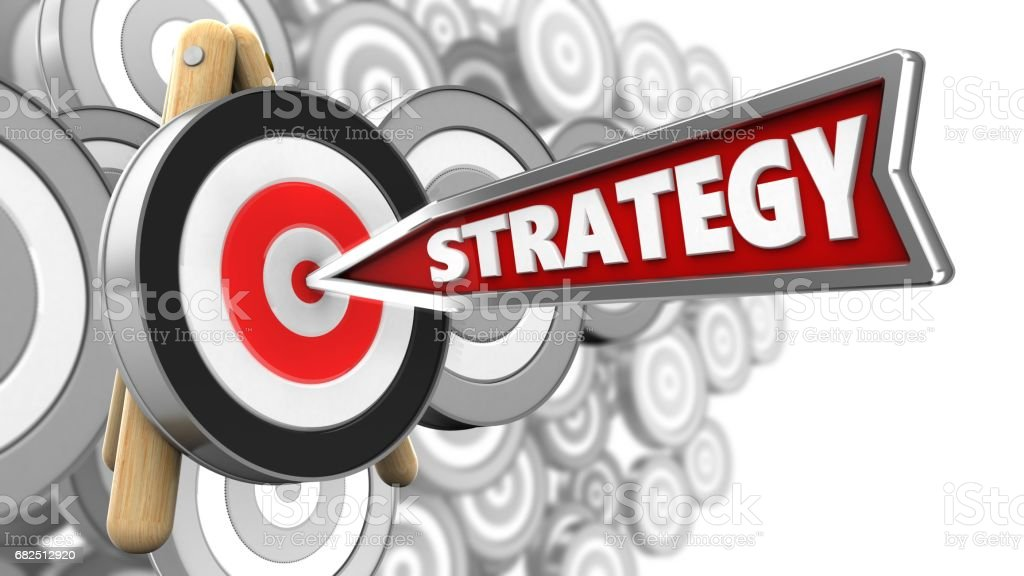 3D strateji ok royalty-free stock photo