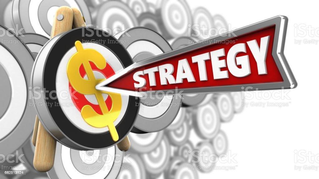 3d strategy arrow foto stock royalty-free