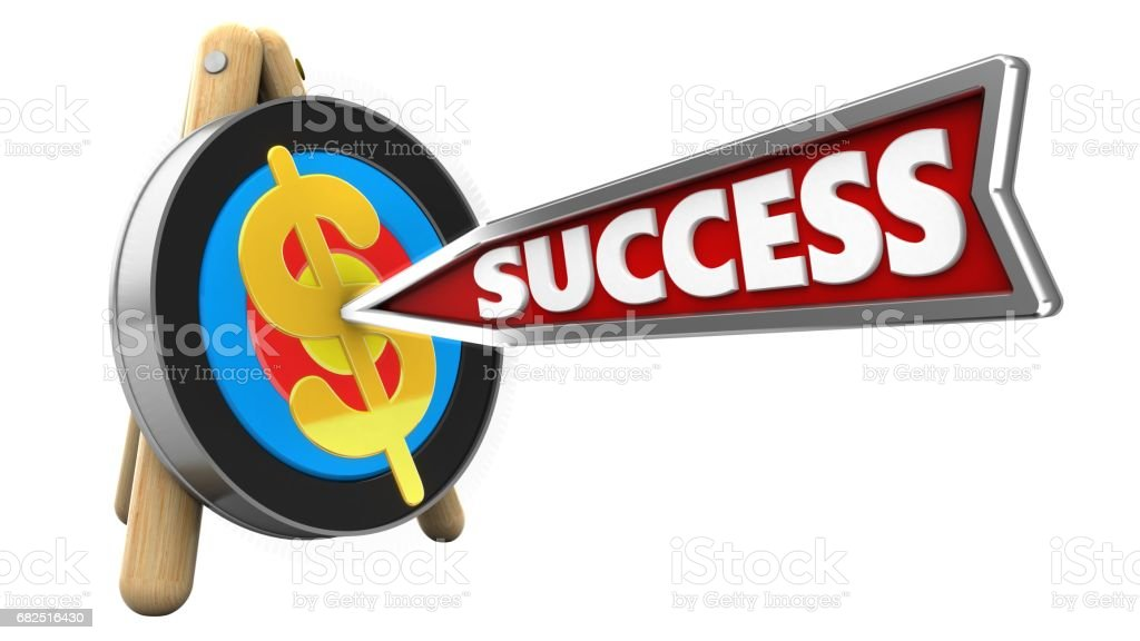 3 d flecha de success foto de stock libre de derechos